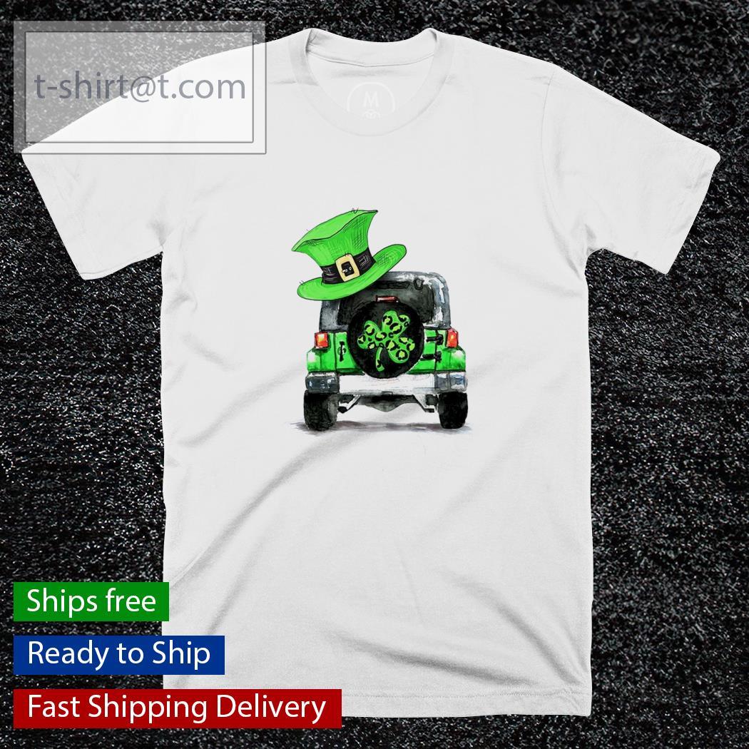 St Patrick's day Shamrock Jeep shirt