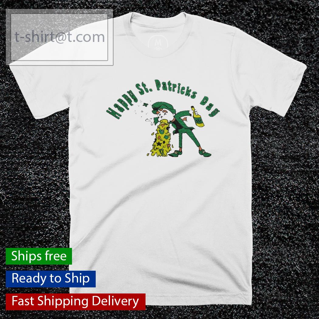 Happy St. Patrick's Day funny leprechaun beer drinking shirt