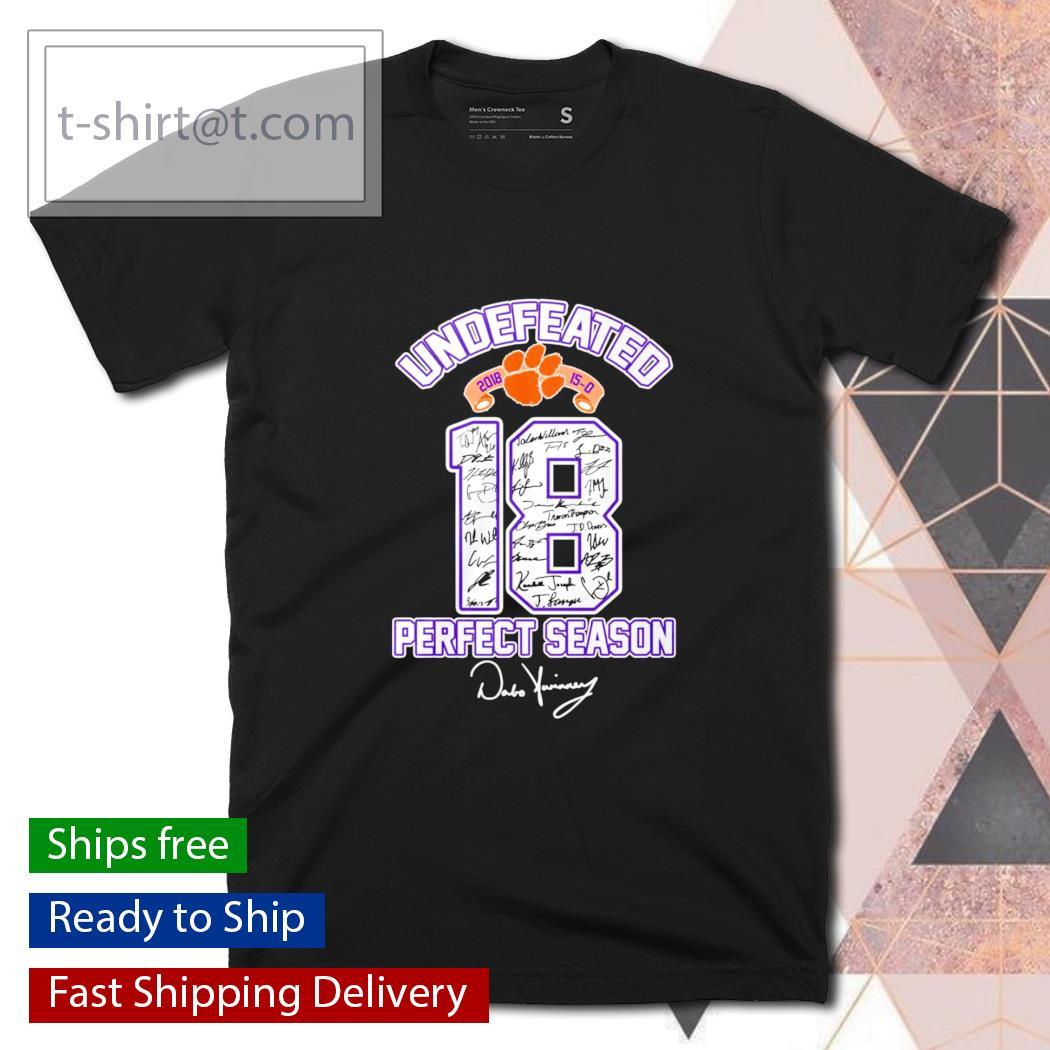 Clemson Tigers undefeated 18 perfect season signature shirt