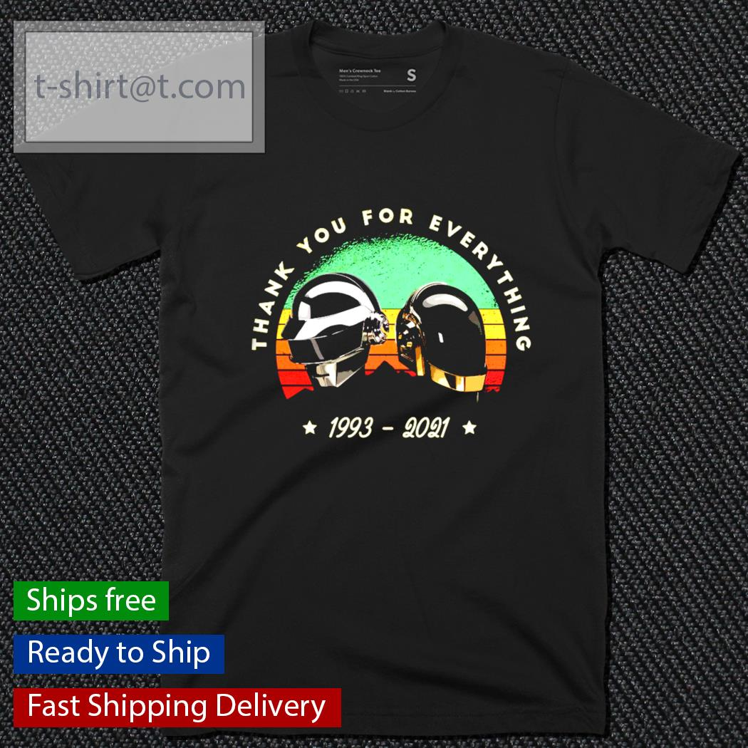 Daft Punk thank you for everything 1993-2021 vintage shirt