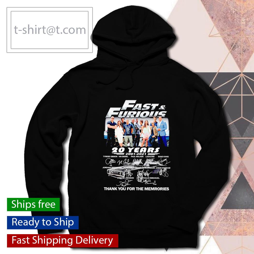Fast and Furious 20 years Anniversary s hoodie