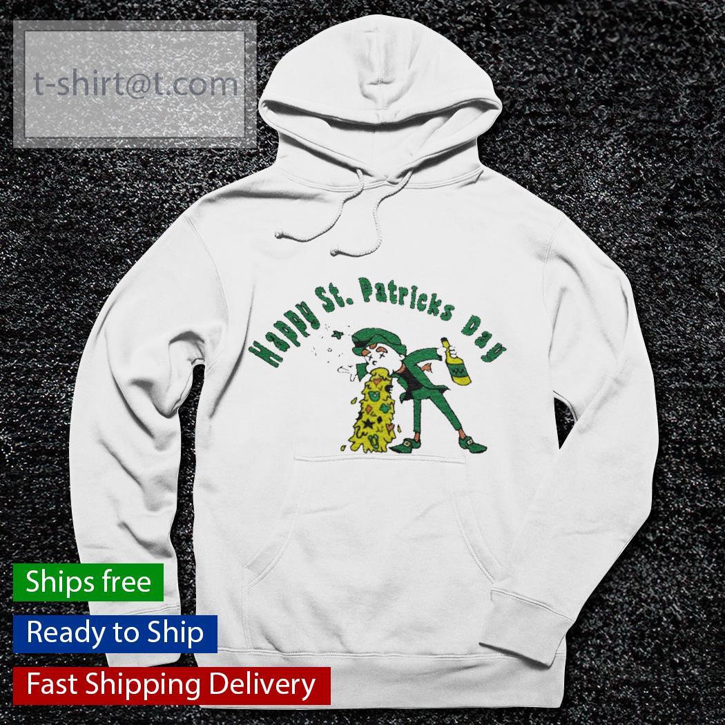 Happy St. Patrick's Day funny leprechaun beer drinking s hoodie