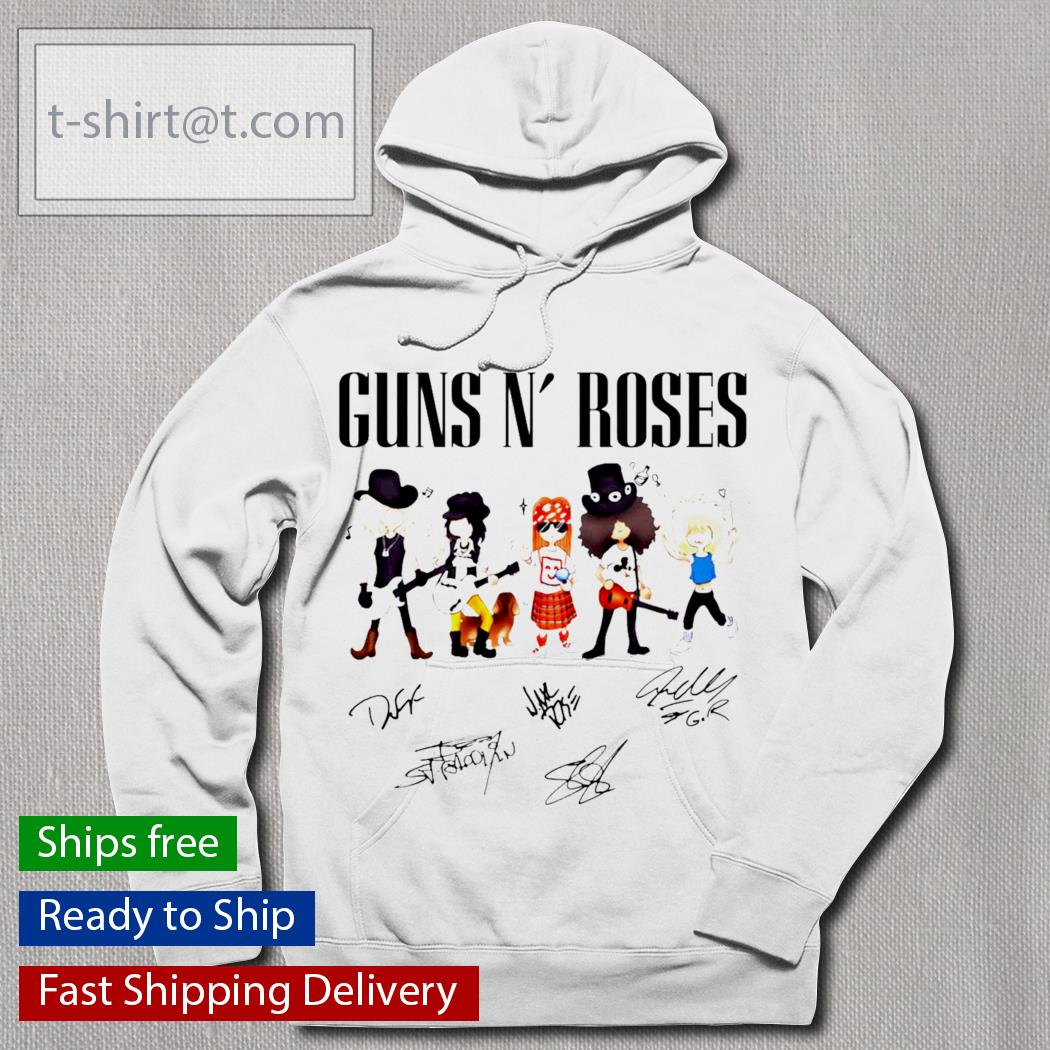 Guns n' roses cartoon signature s hoodie