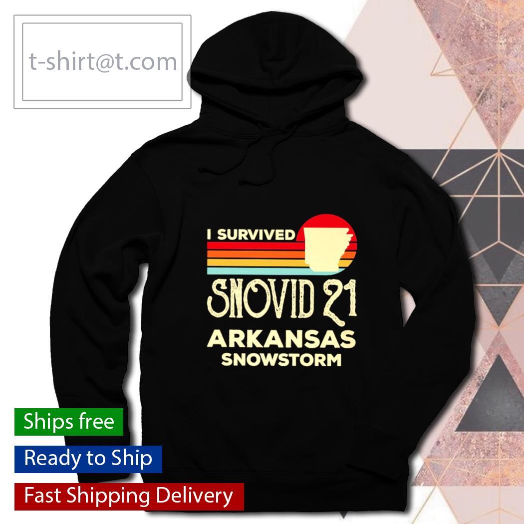 I survived snovid 21 Arkansas snowstorm vintage s hoodie