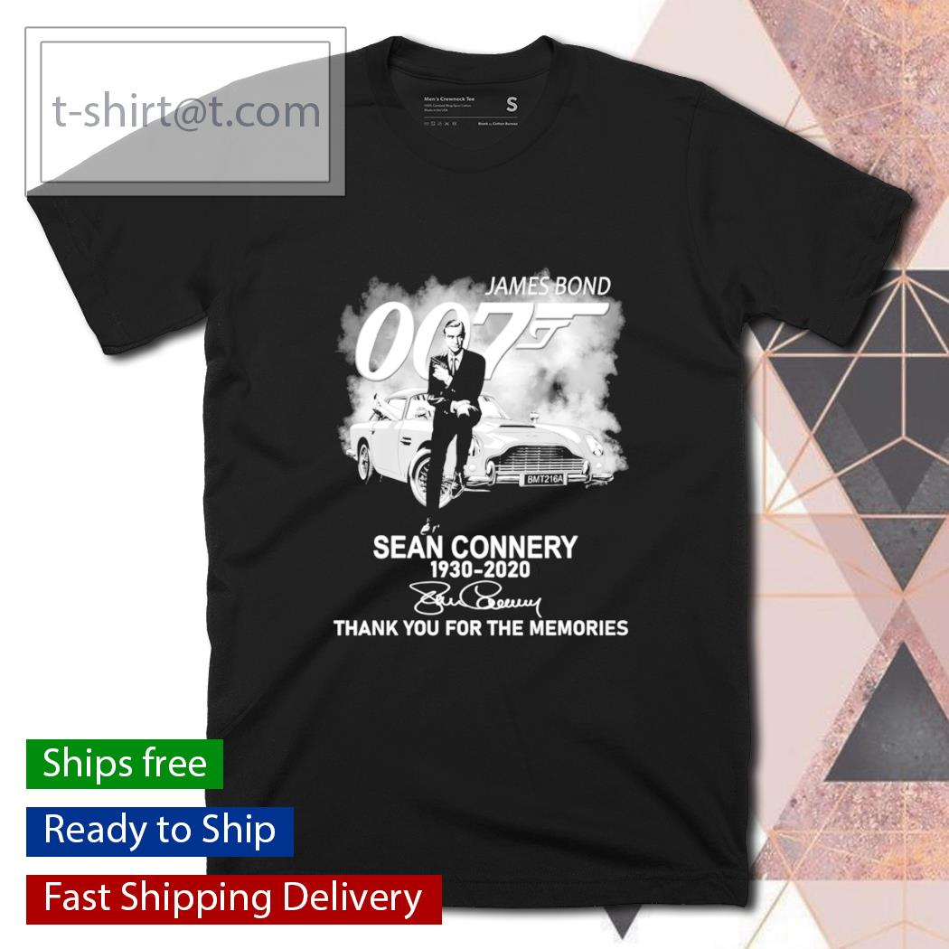 James Bond 007 Sean Connery 1930 2020 thank you for the memories shirt