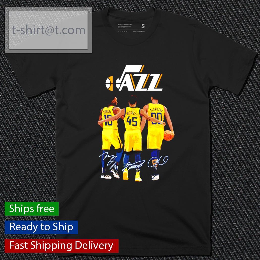JAZZ 18 Conley 45 Mitchell 00 Clarkson signature shirt