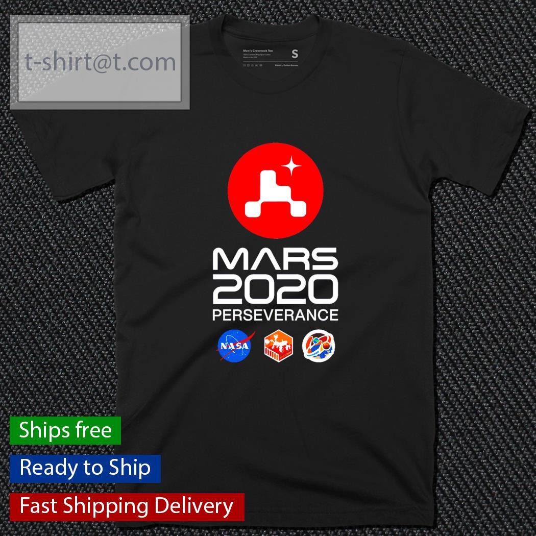 Mars 2020 perseverance logo shirt