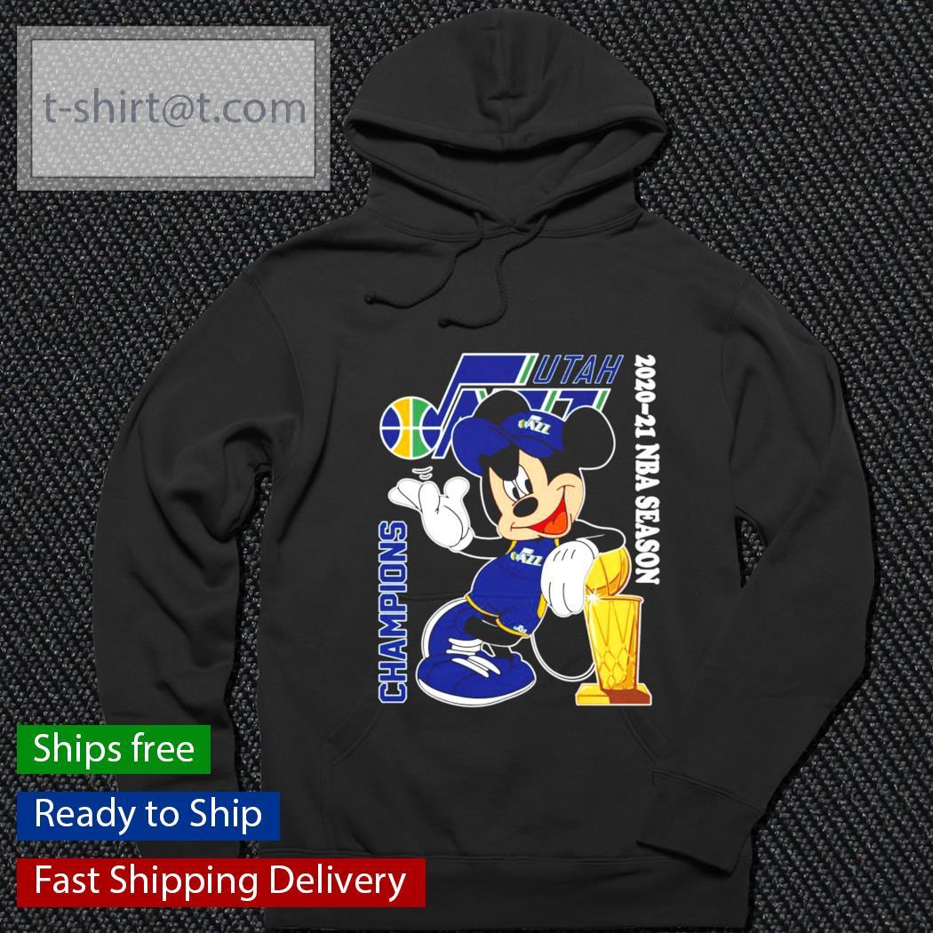 Mickey Mouse Champions 2020-21 NBA Season s hoodie
