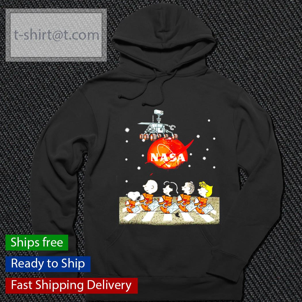 NASA Snoopy and friends Abbey Road s hoodie