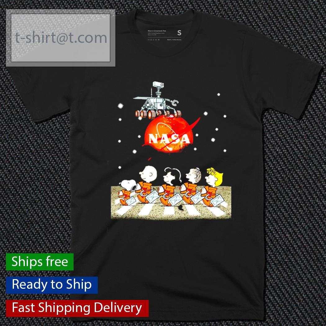 NASA Snoopy and friends Abbey Road shirt