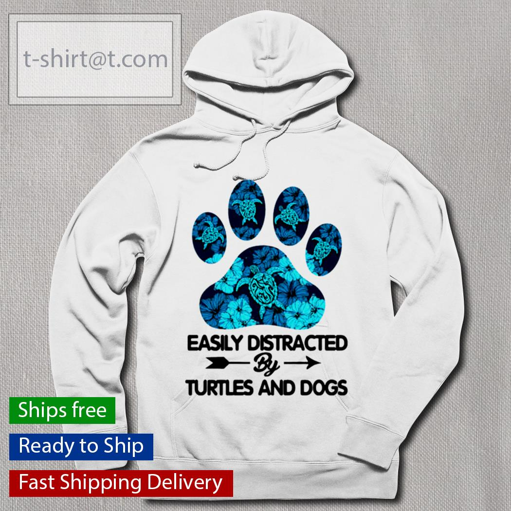 Paw Dog easily distracted by turtles and dogs s hoodie
