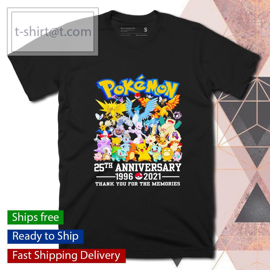 Pokemon 25th Anniversary 1996-2021 shirt