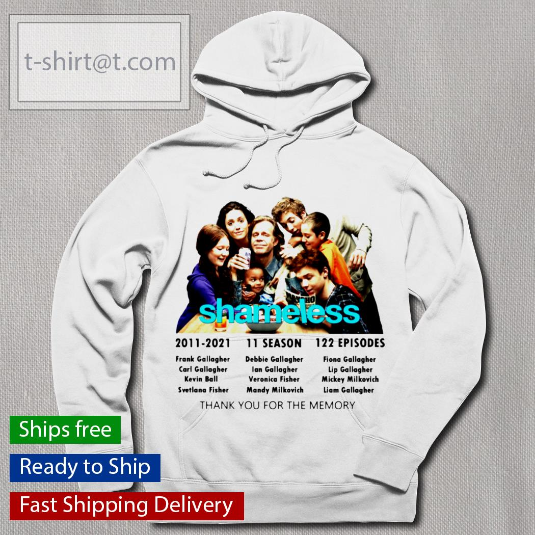 Shameless 2011-2021 11 season 122 episodes thank you for the memories s hoodie