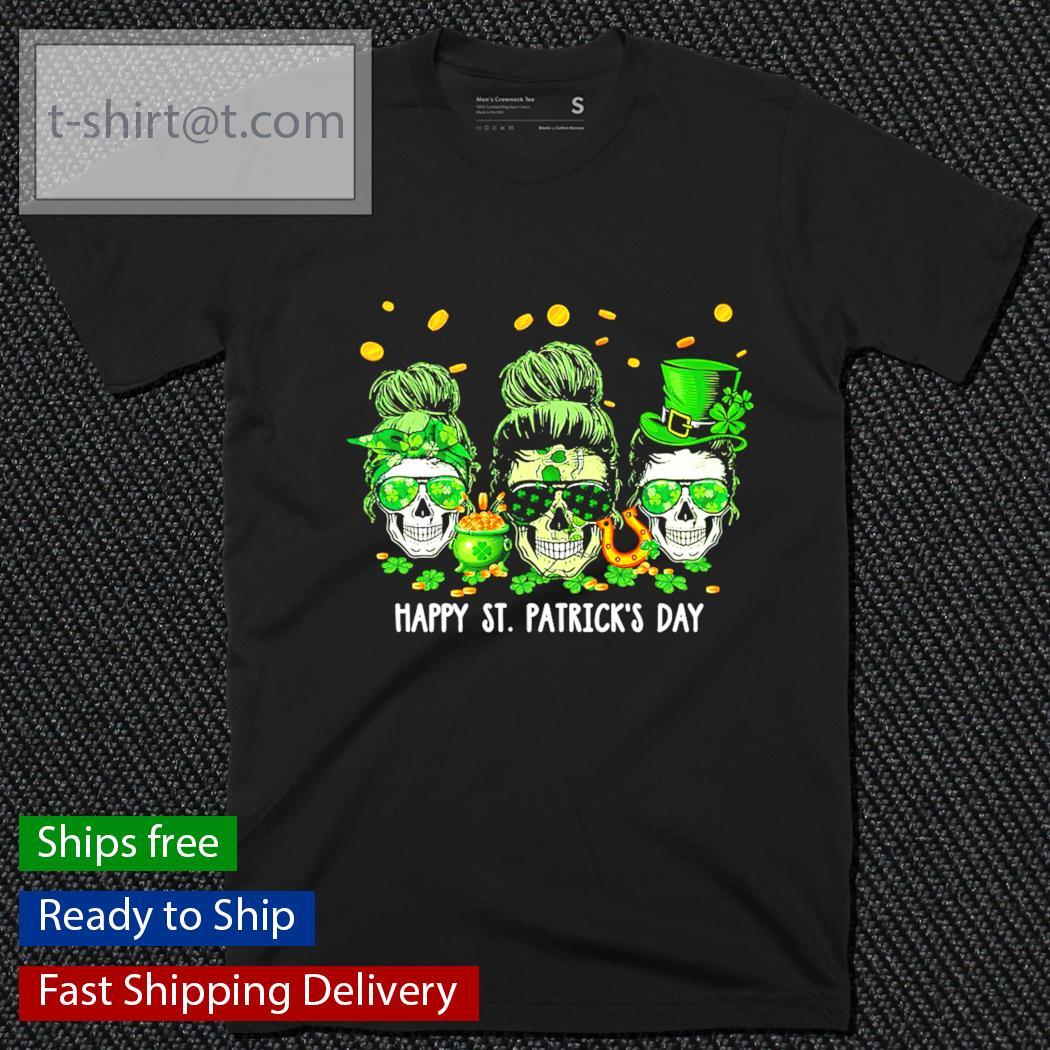 Skull Mom happy St.Patrick's Day shirt