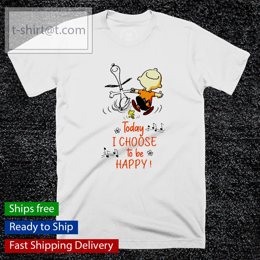 Snoopy and Charlie today I choose to be happy shirt