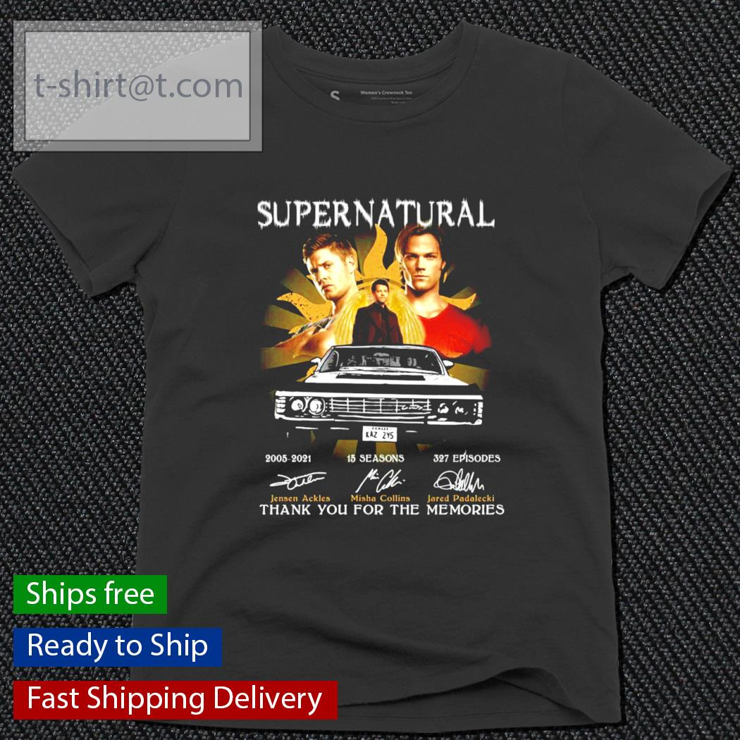 Super Natural 2005-2021 15 Seasons 327 episodes thank you for the memories s ladies-tee