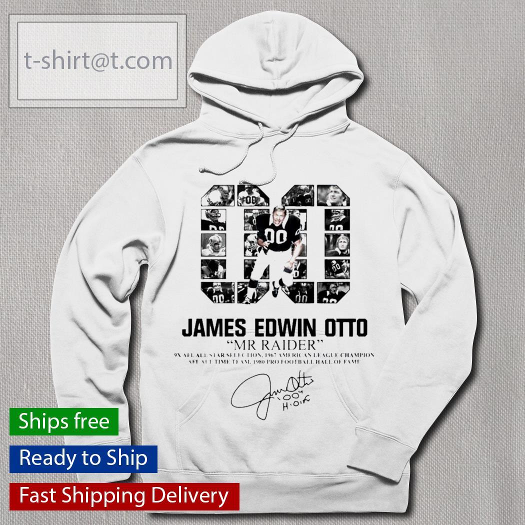 00 James Edwin Otto Mr Raider signature s hoodie