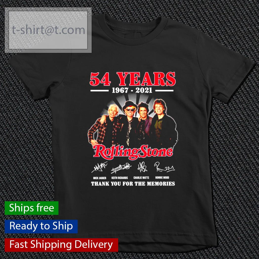 54 years 1967-2021 Rolling Stone thank you for the memories t-shirt