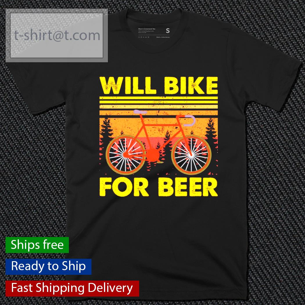 Bicycle will bike for beer vintage shirt