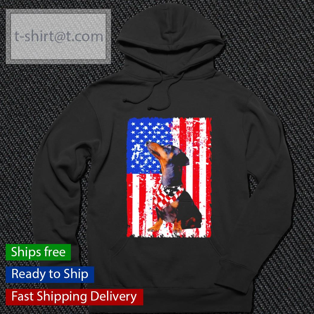 Dachshund American Flag s hoodie