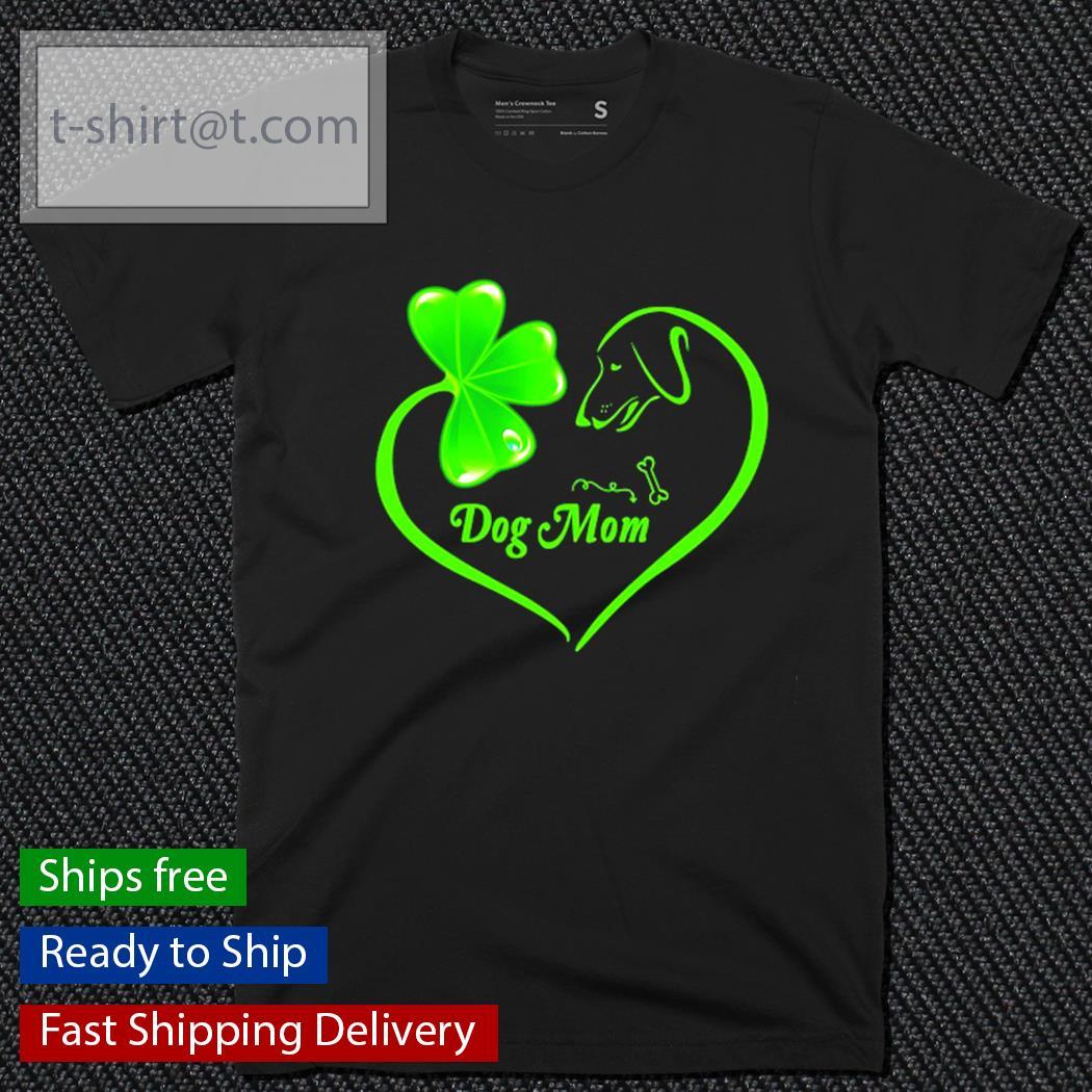 Dachshund heart St.Patrick's Day dog mom shirt