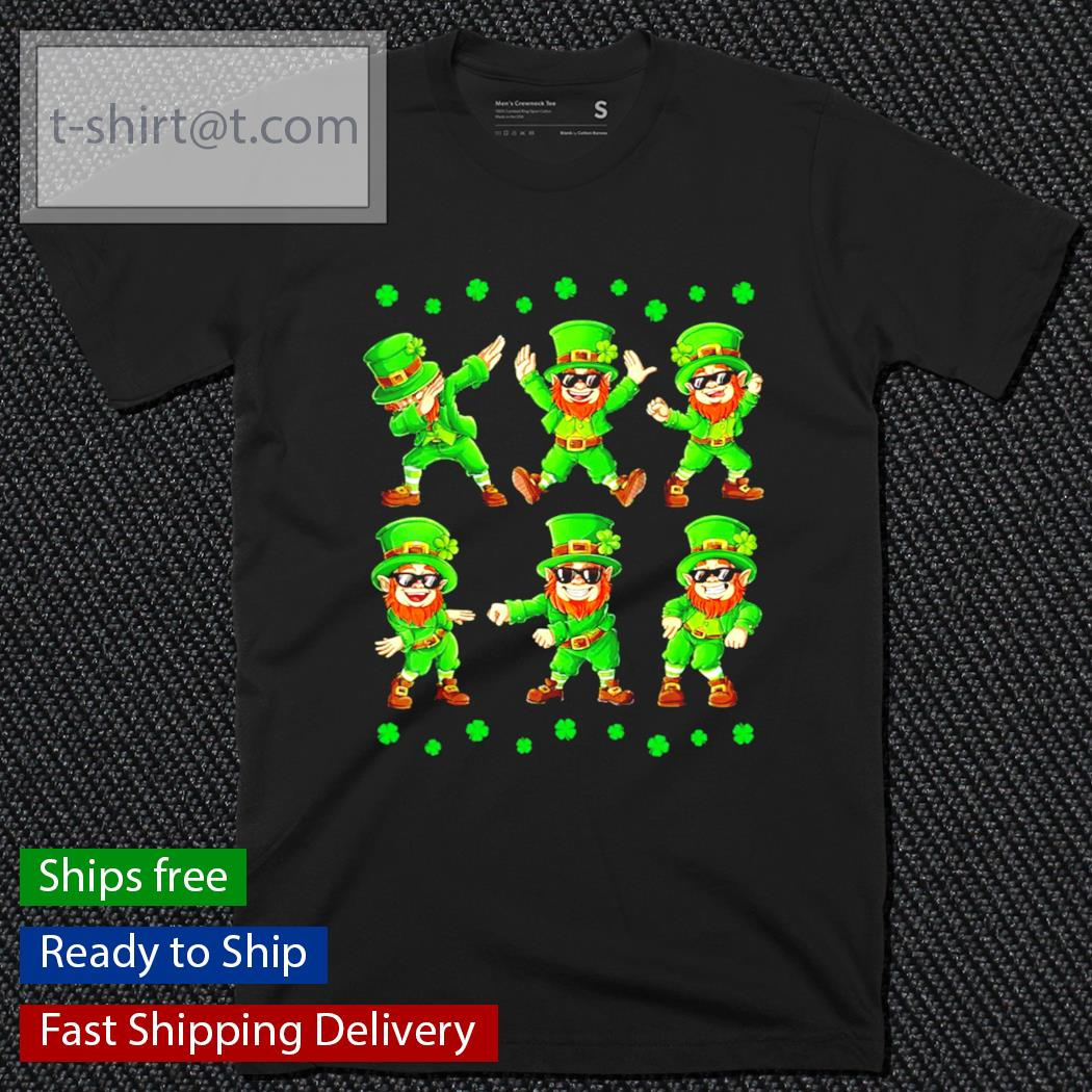 Dancing Leprechauns dabbing St.Patrick's Day shirt