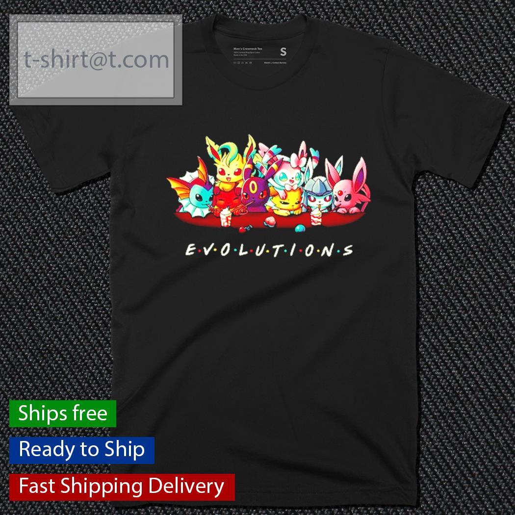 Eevee Evolution Friends Pokemon shirt