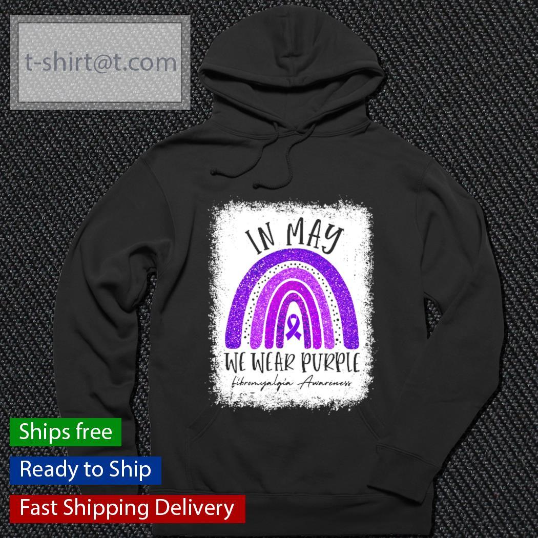 Fibromyalgia Awareness in may we wear purple s hoodie