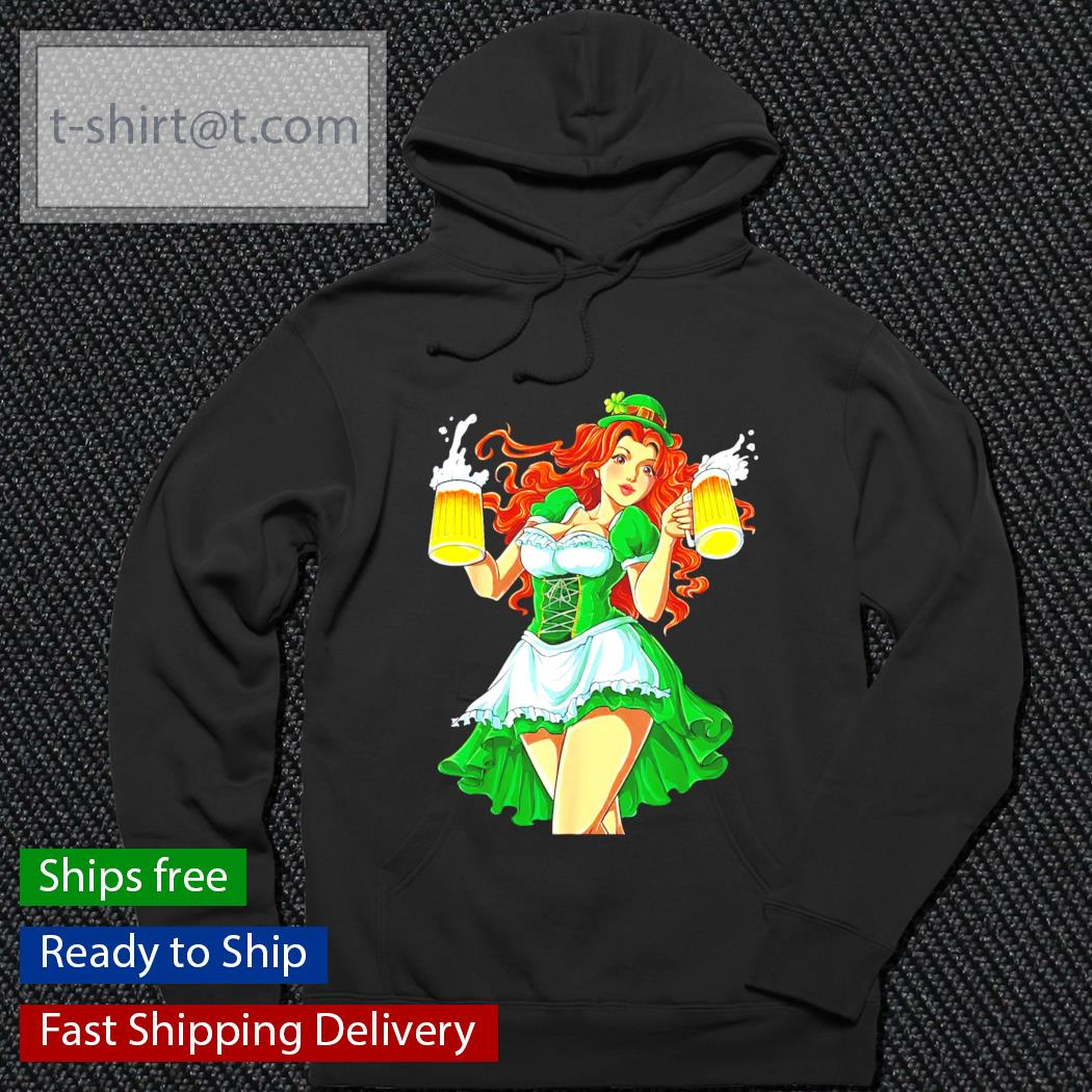 Funny Sexy Leprechaun Redhead Women Lady Beer St.Patrick's Day s hoodie