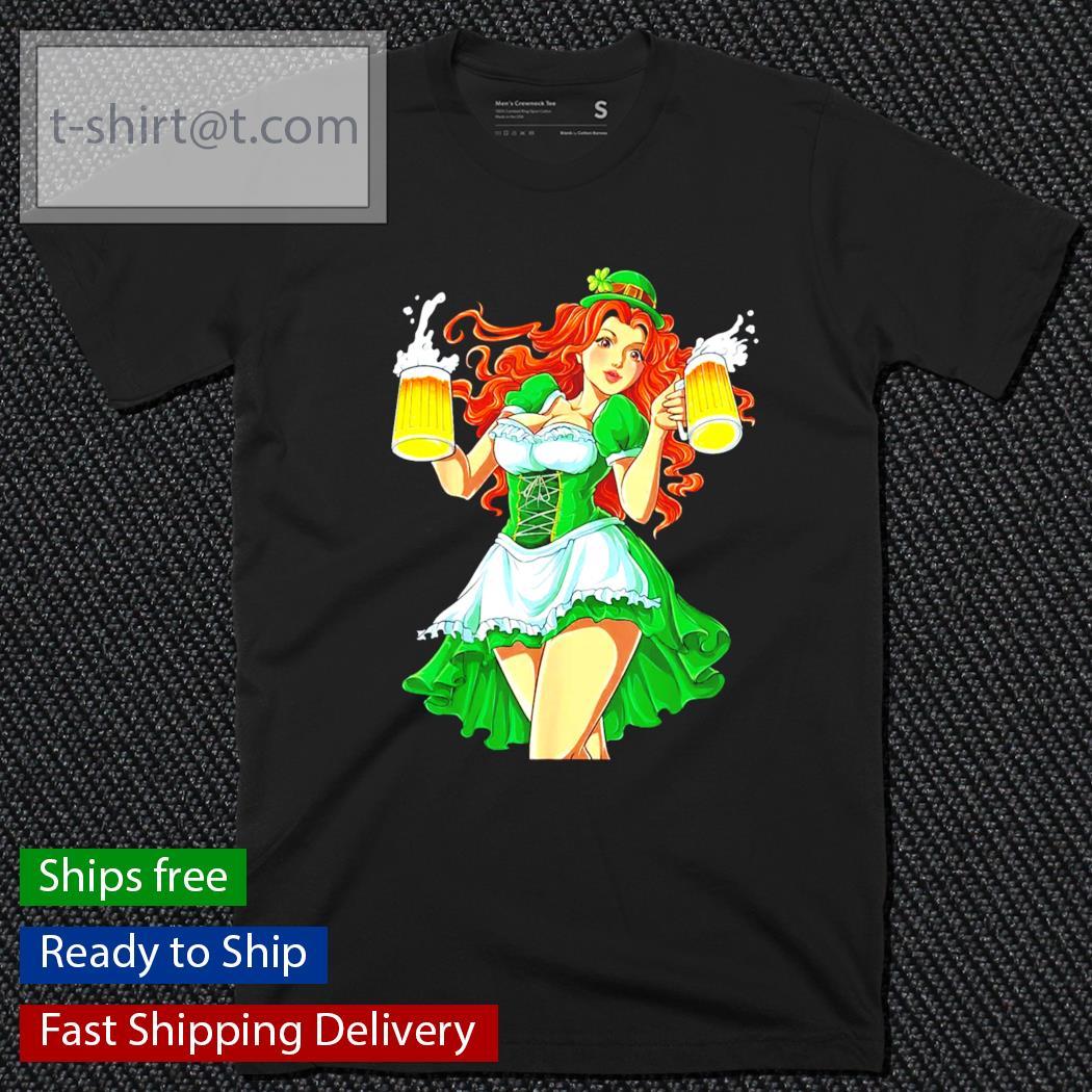 Funny Sexy Leprechaun Redhead Women Lady Beer St.Patrick's Day shirt