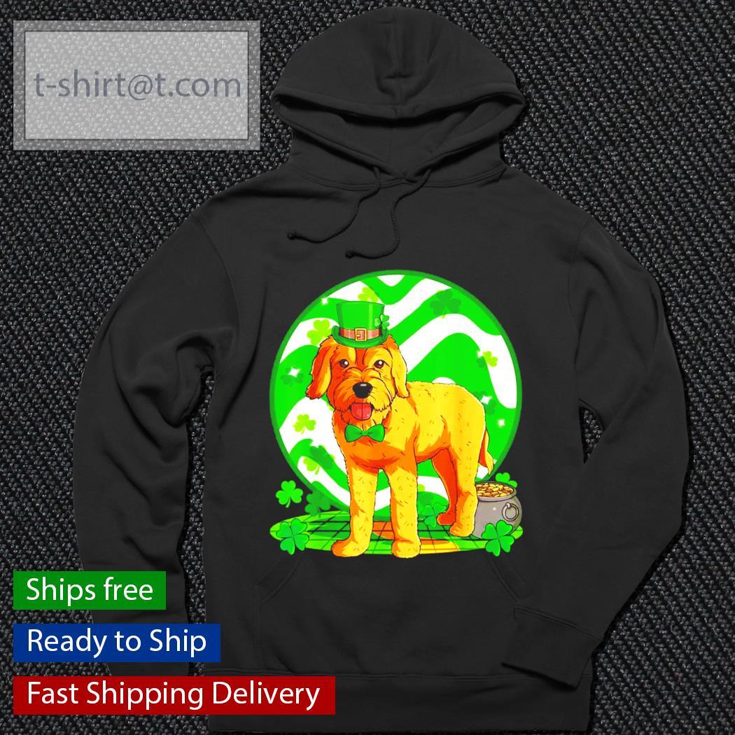 Goldendoodle dog St.Patrick's Day Leprechaun s hoodie