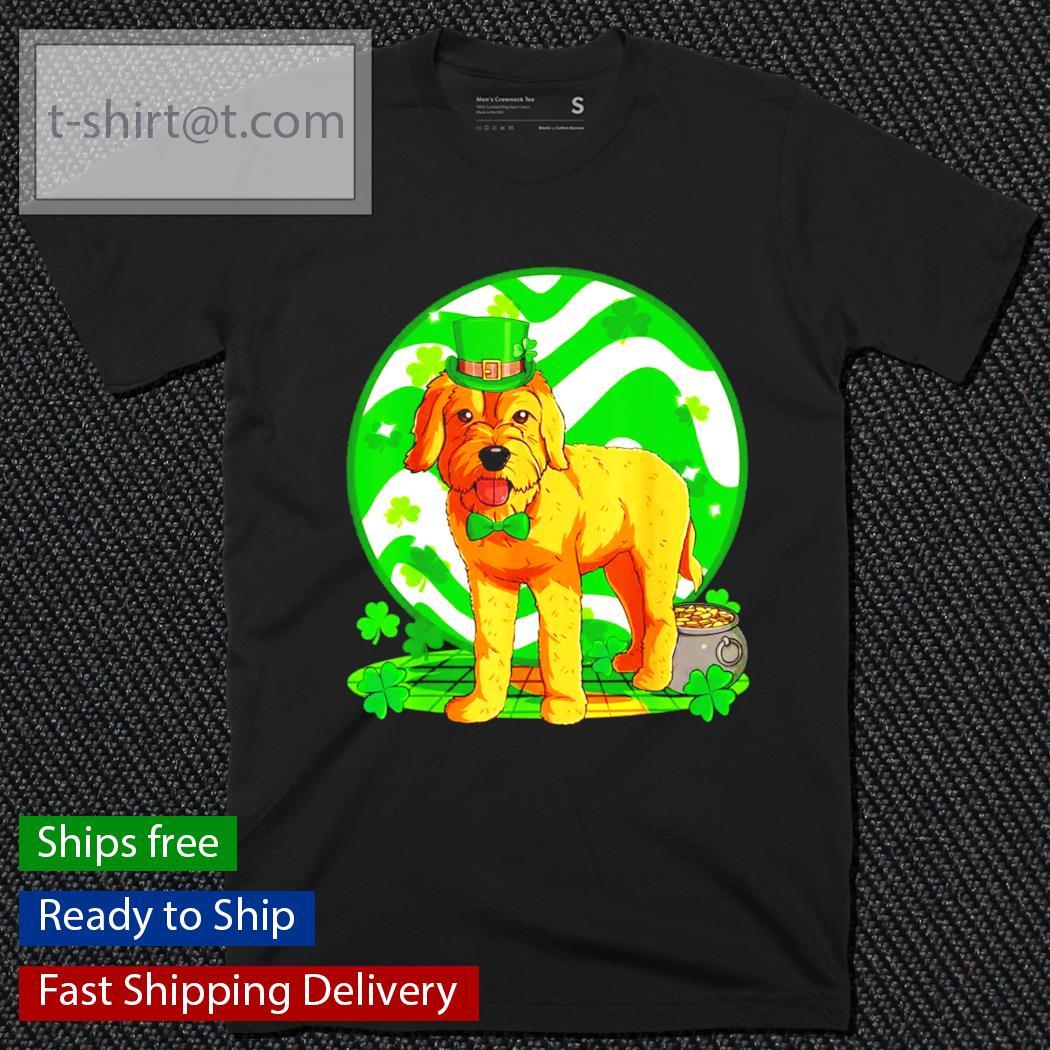 Goldendoodle dog St.Patrick's Day Leprechaun shirt