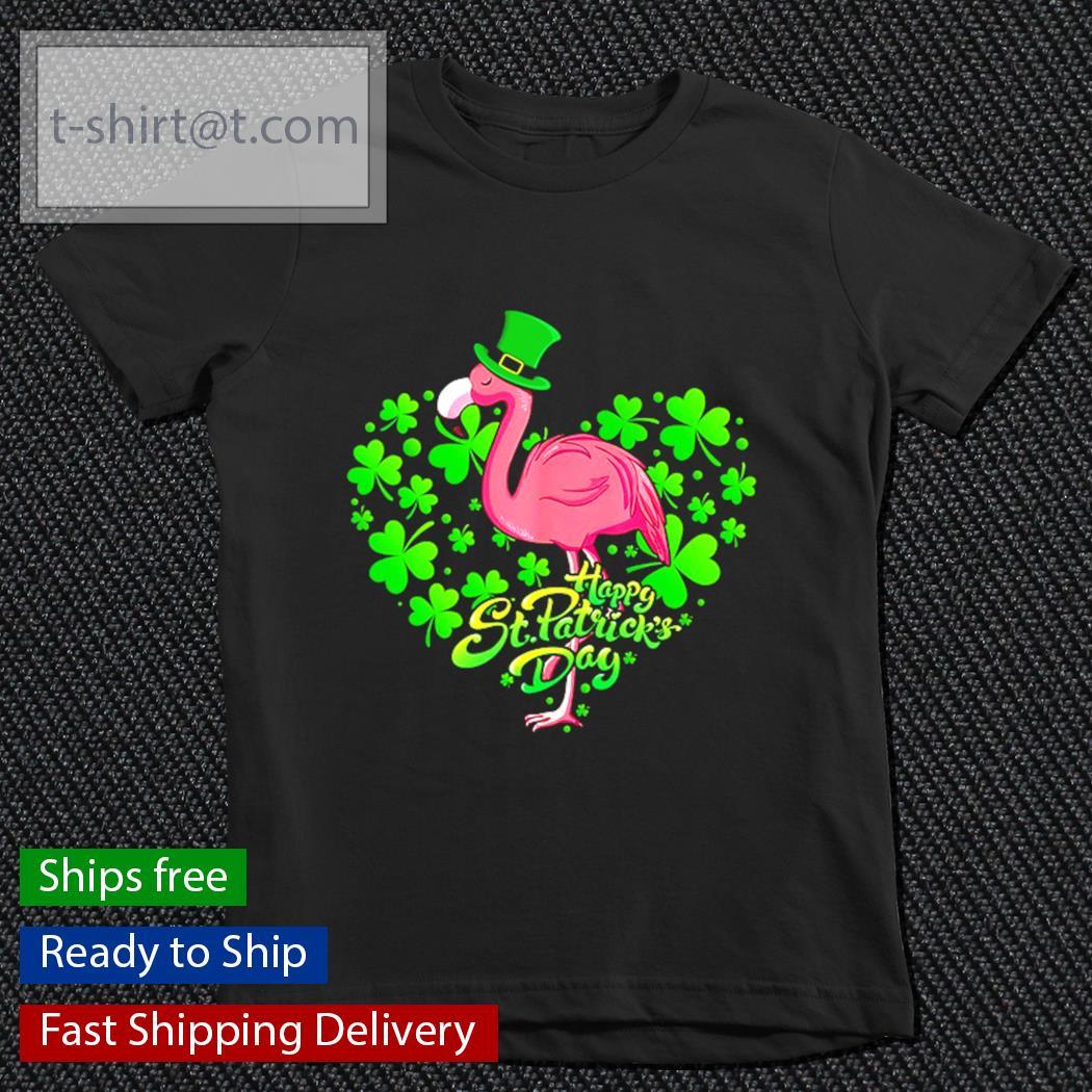 Happy St.patrick's Day Flamingo s youth-tee