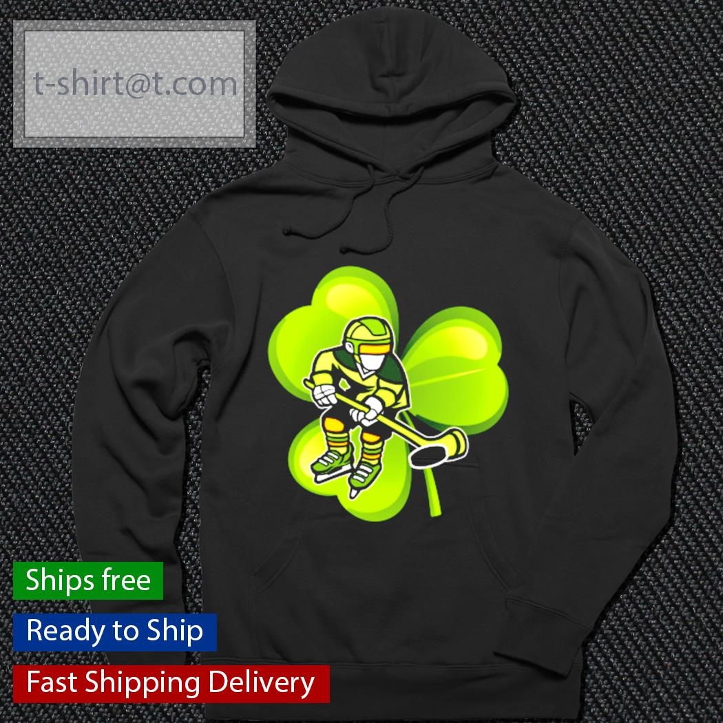 Ice Hockey Shamrock Clover St.Patrick's Day Hockey Irish s hoodie