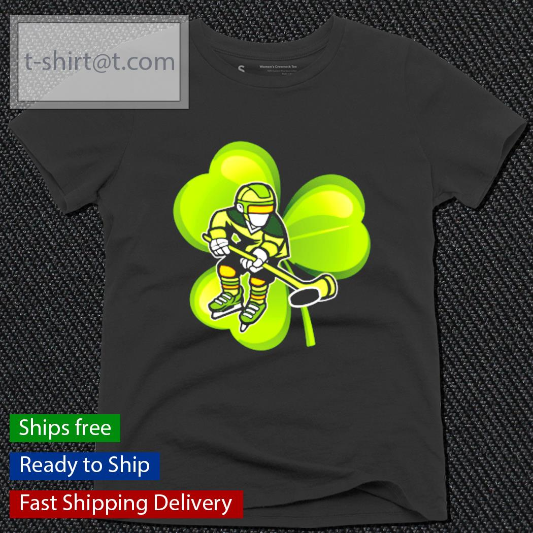 Ice Hockey Shamrock Clover St.Patrick's Day Hockey Irish s ladies-tee