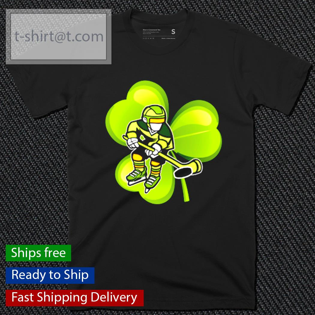 Ice Hockey Shamrock Clover St.Patrick's Day Hockey Irish shirt