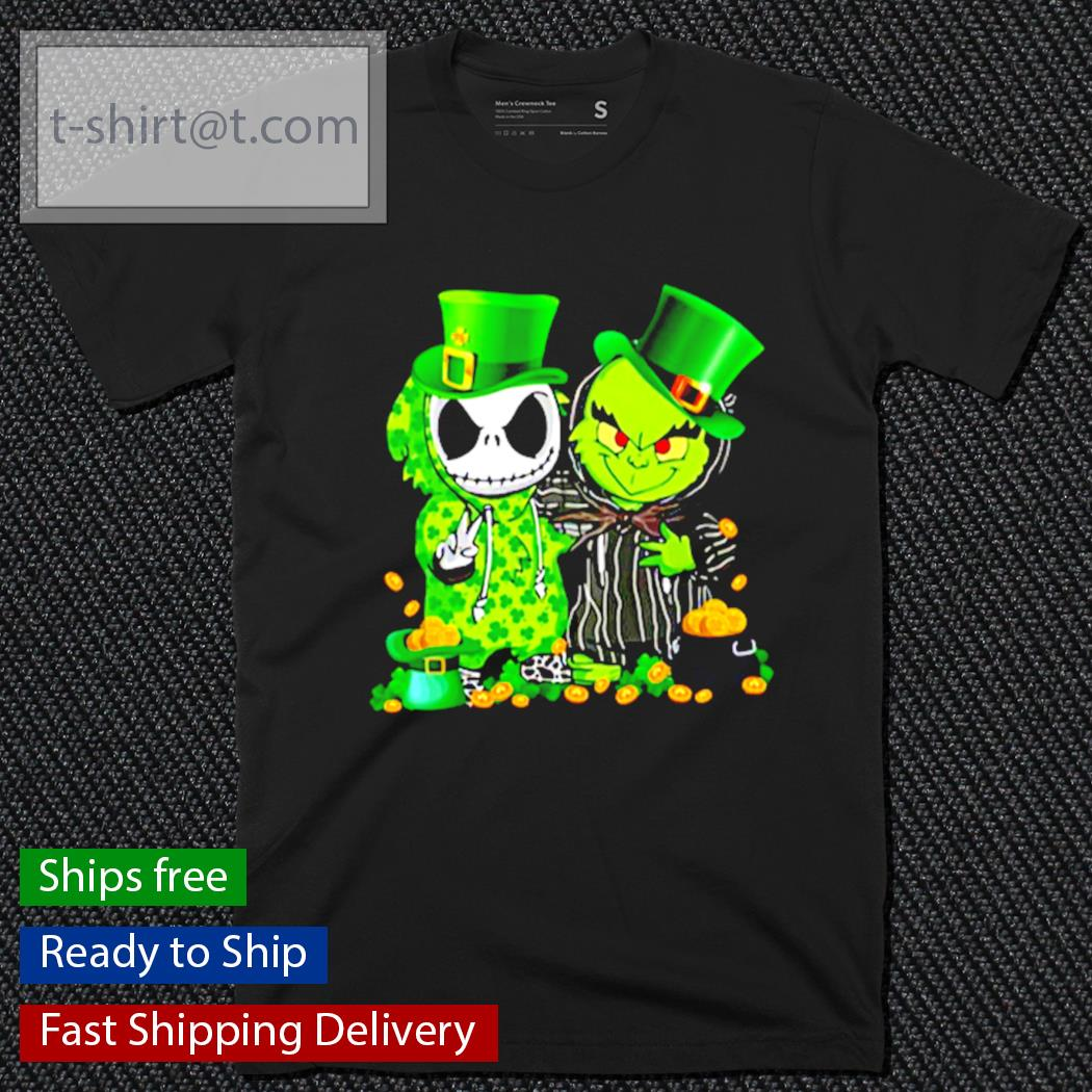 Jack Skellington and The Grinch St.Patrick's Day shirt