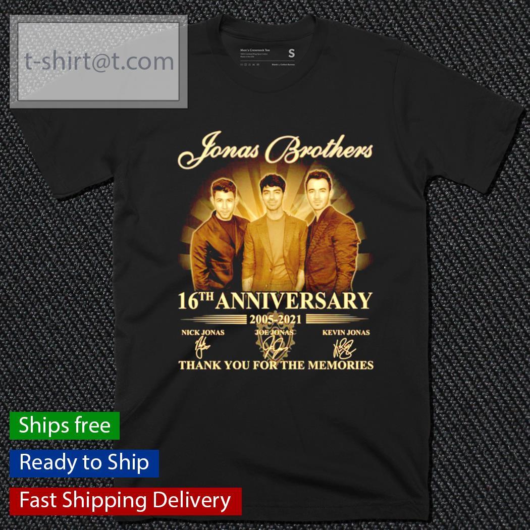Jonas Brothers 16th anniversary 2005-2021 signature shirt