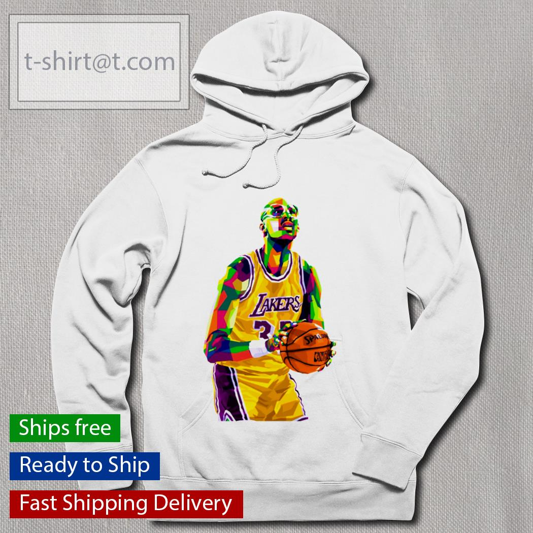 Kareem Abdul Jabbar WPAP Lakers football s hoodie