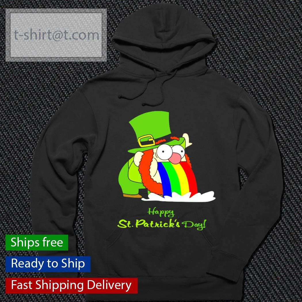 Leprechaun happy St.Patrick's Day rainbow s hoodie