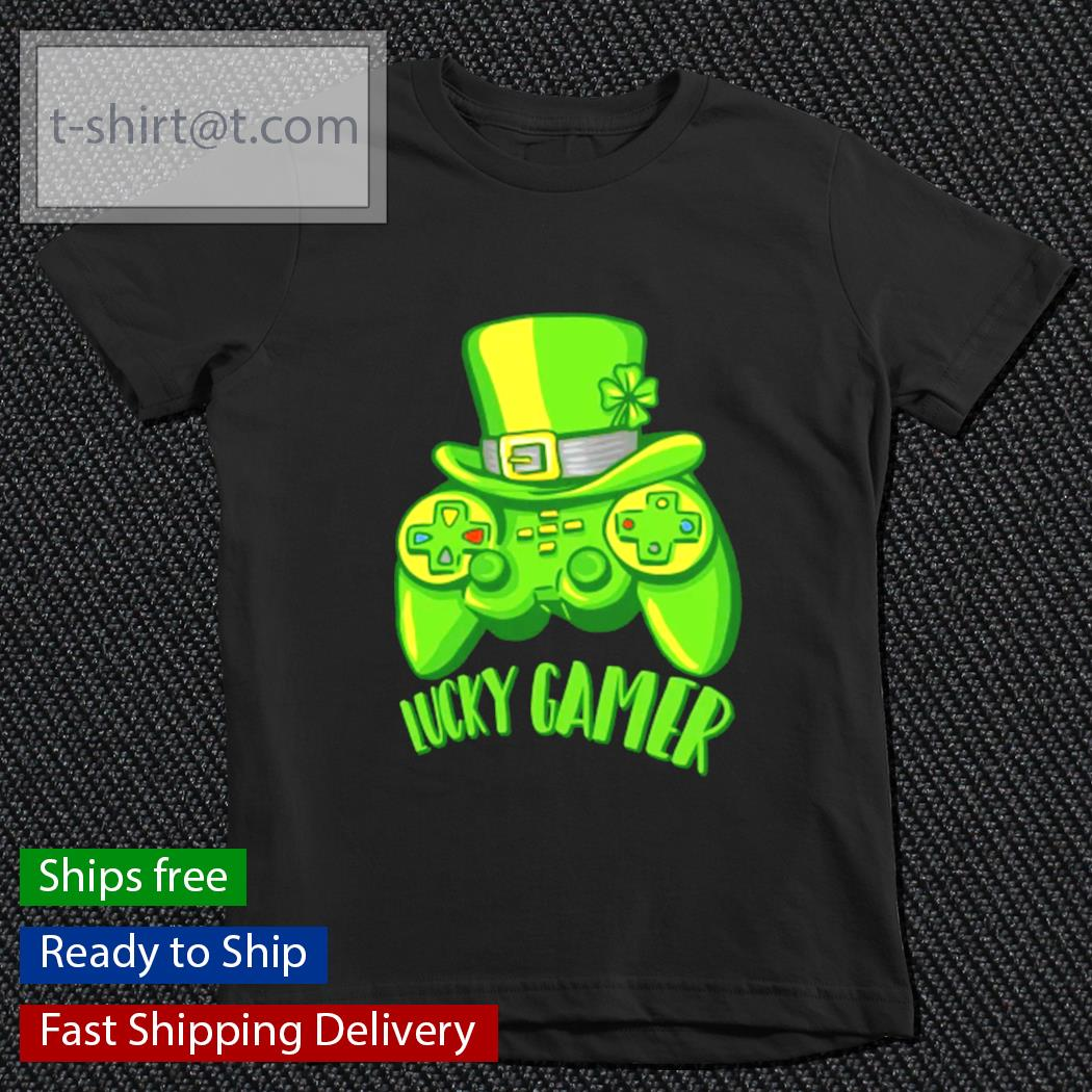 Lucky Gamer St.Patrick's Day Gaming Gamer s youth-tee