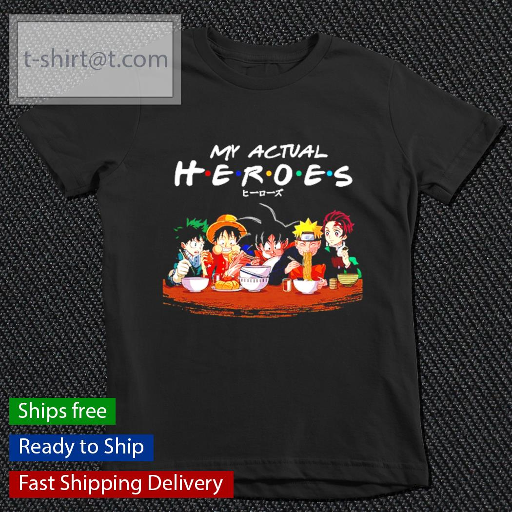 My actual Heroes Anime s youth-tee