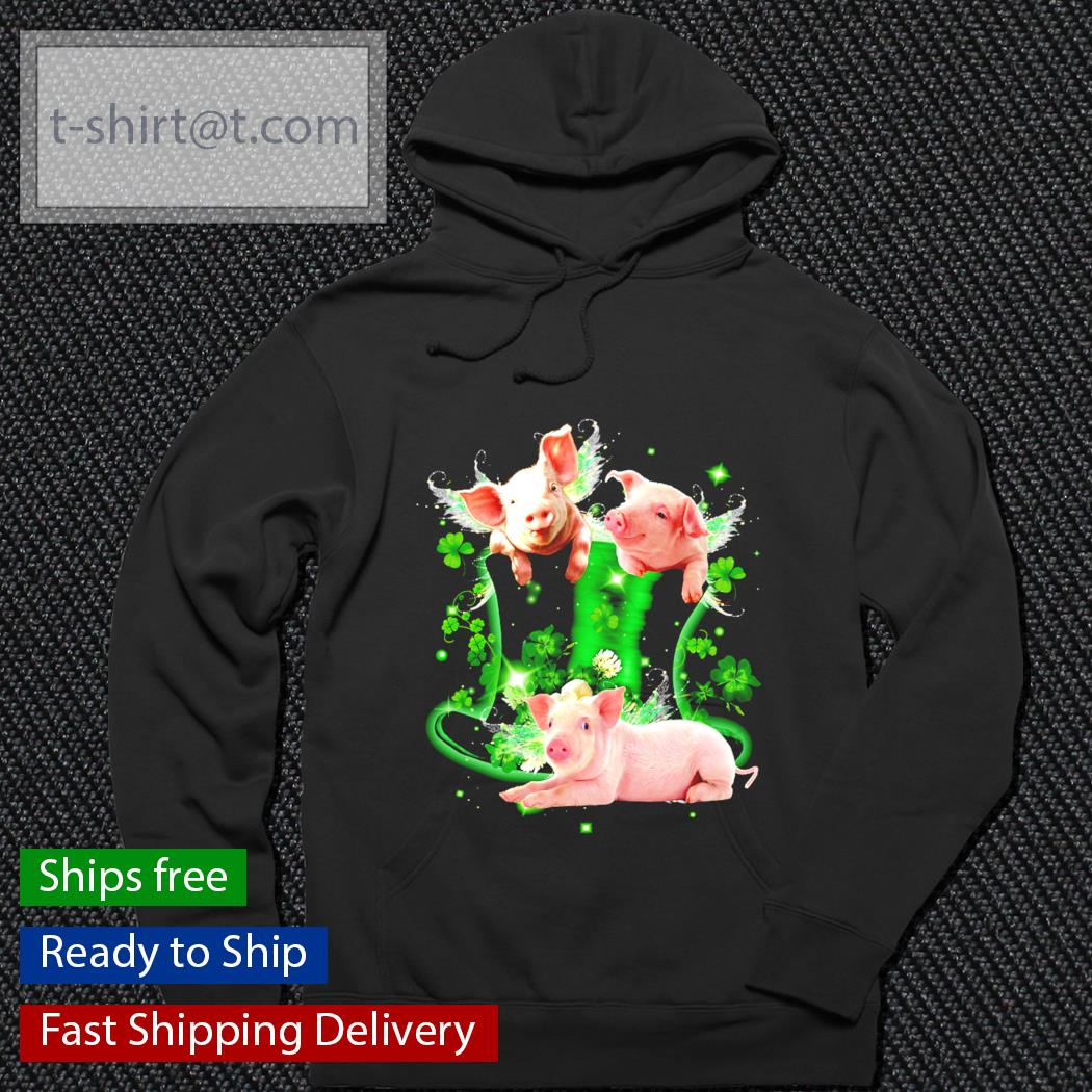Pig Leprechaun lucky fairies for pig lover s hoodie