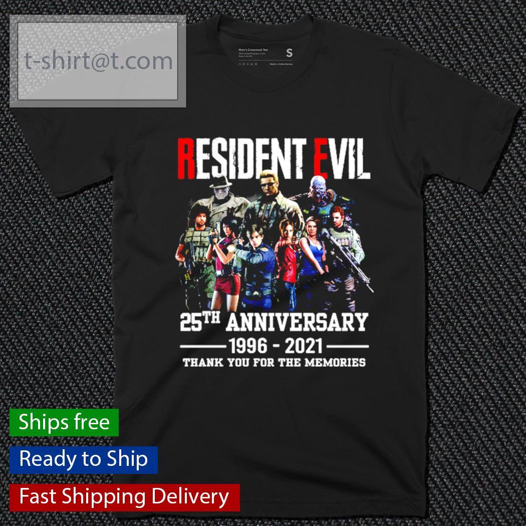 Resident Evil 25th anniversary 1996-2021 t-shirt