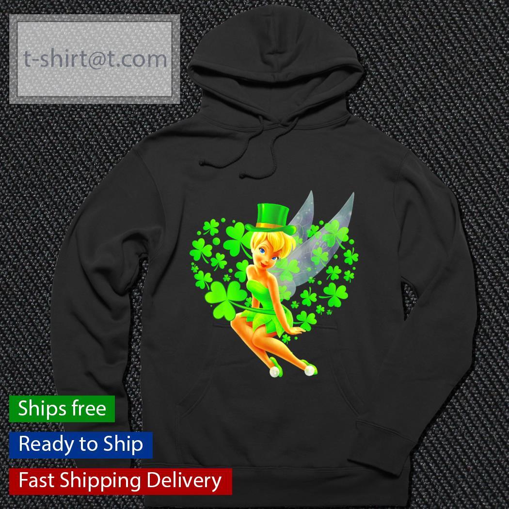 Tinker Bell heart St.Patrick's Day Leprechaun s hoodie