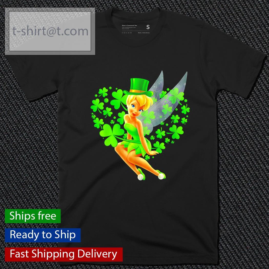 Tinker Bell heart St.Patrick's Day Leprechaun shirt