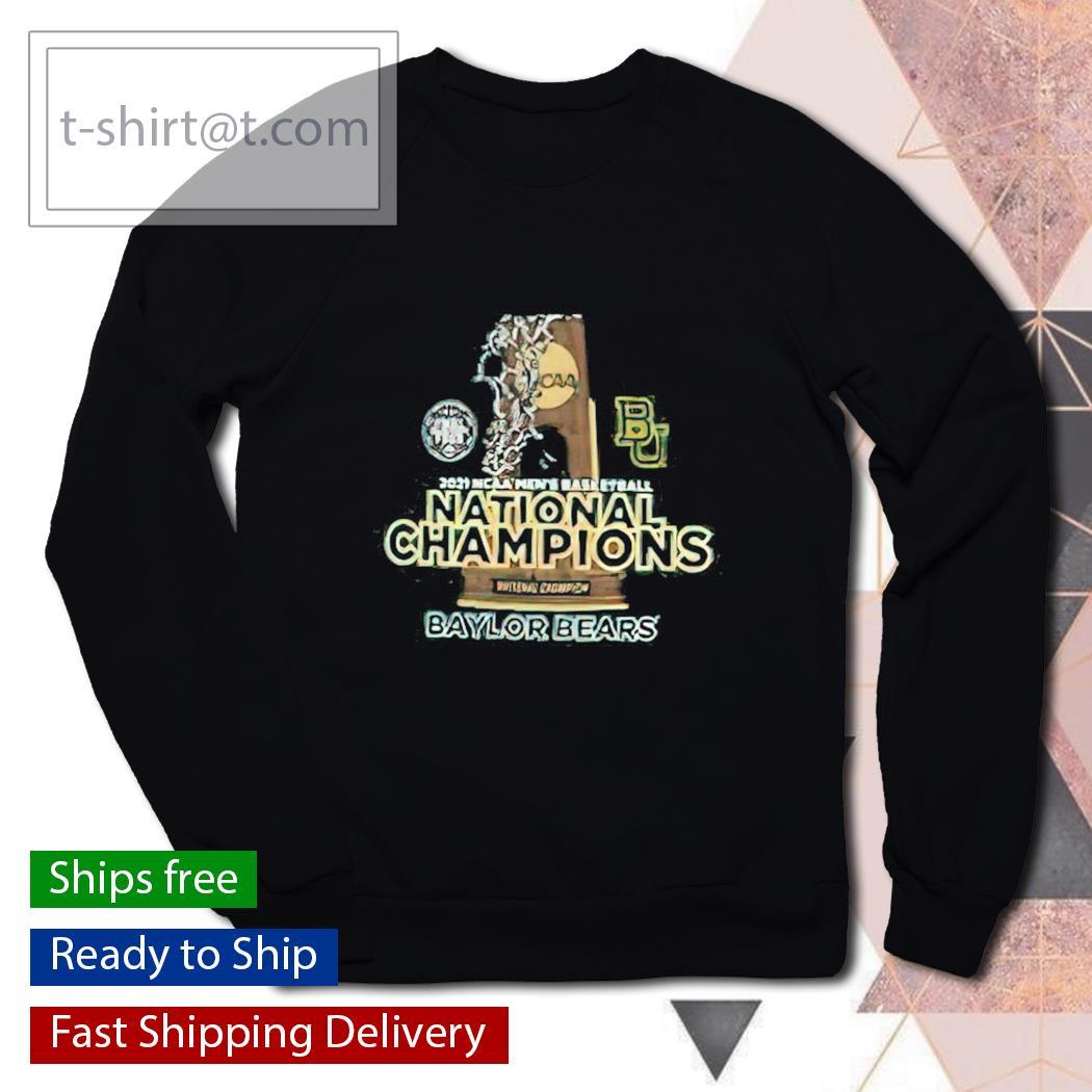 2021 NCAA Men's Basketball National Champions Baylor Bears sweater