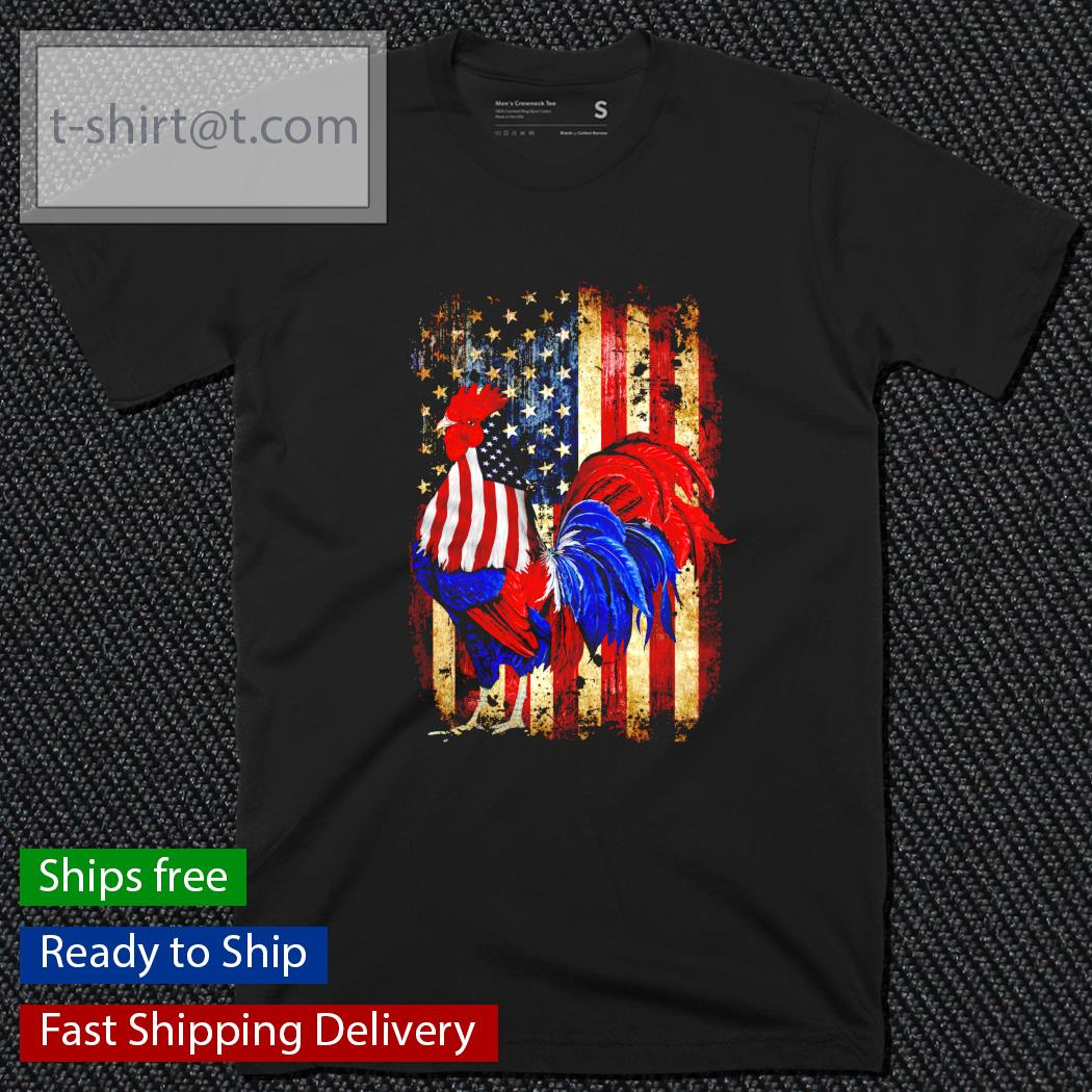 Dad Chicken Happy Independence Day American shirt