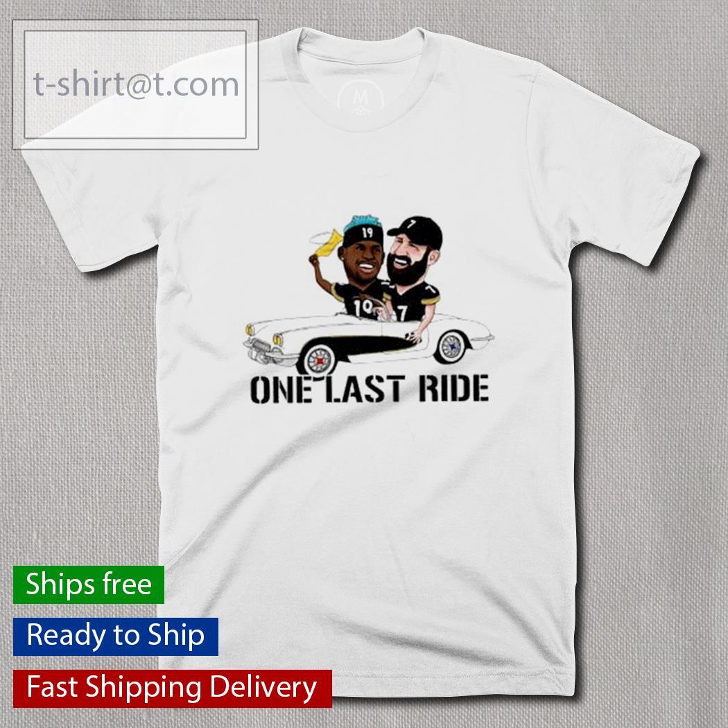 JuJu Smith-Schuster and Ben Roethlisberger one last ride shirt