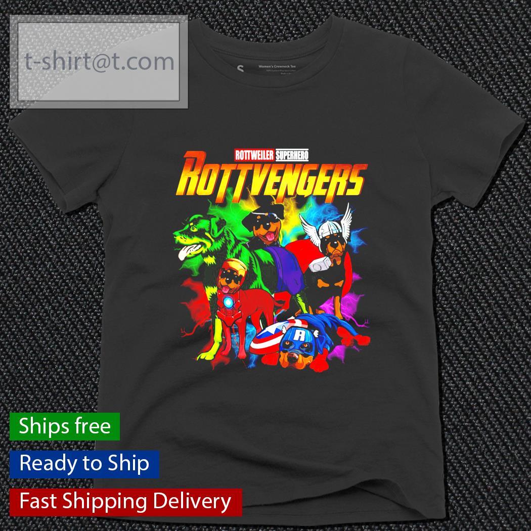 Avenger Rottweiler Superhero Rottvenger ladies-tee